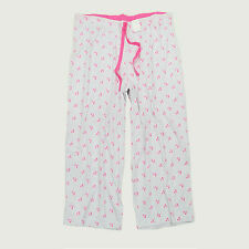 New CHARTER CLUB Rose Print Brushed Back Cotton Knit Cropped Pajama Pant 3XL