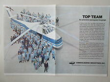2/1973 PUB CONSOLIDATED INDUSTRIES FORGING SIKORSKY S-58T HELICOPTER ORIGINAL AD