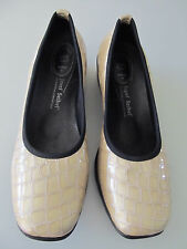 Womens Josef Seibel yellow beige patent leather croc loafers slip ons sz 39 8.5