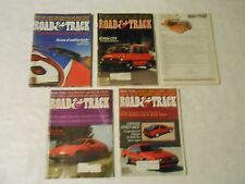 LOT OF 5  1982 ROAD &  TRACK MAGAZINES,MERCEDES,PETTY,MASERATI,VOLVO,AUDI,RENAUL