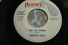 """KENNETH DEAL """"Give a Little Love / Tell Me Where"""" 1963 PEACOCK 1915 Nice VG/ VG+"""