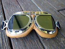 Aviator goggles steampunk leather look retro costume burning man motorcycle fly