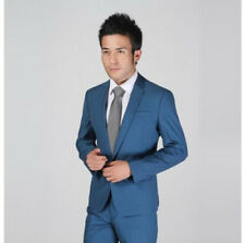 Men's Formal Slim Fit Stylish Suit/Suits one-button suit set Jacket pants tie