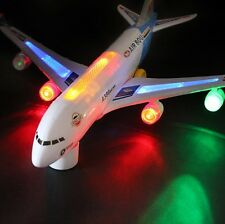 A380 Model Aeroplane With Flashing Light Sounds Music Electric Toy Airbus Plane