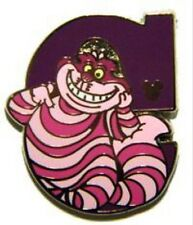 Letter C Cheshire Cat Alice In Wonderland Alphabet Hidden Mickey Disney Pin DLR