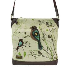 CHALA SAFARI XBODY BAG - BIRD, PRINTED CANVAS, New!