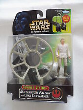 Star Wars Gunner Sation Millennium Falkon with Luke Skywalker von Kenner OVP