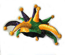 Mardi Gras Jester Horned Funny 13 Point Carnaval Adult Costume Party Hat