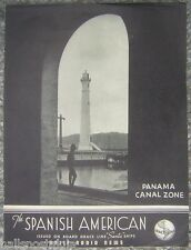 1937 Spanish American Panama Canal Zone Daily Radio News Issued by Grace Line