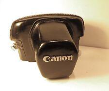 Vintage Canon Black Leather Camera Case 183 for Canon FTB - Ok Condition