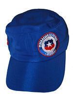 "CHILE BLUE ""FEDERACION DE FUTBOL DE CHILE"" FIFA WORLD CUP MILITARY HAT CAP"