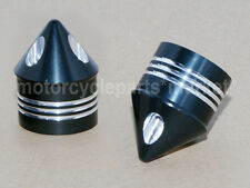 2X Black Deep Cut Axle Cap Nut Cover For Harley Touring Dyna Softail Sportster