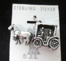 VINTAGE STERLING SILVER HORSE DRAWN CARRAIGE CHARM