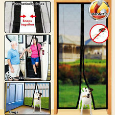 Hands-Free Screen Curtain Door With Magnets For Dog Cat Stop Bug Mosquito Fly TQ
