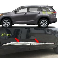 Body Door Side Molding Cover ABS Chrome Trim Strip For Toyota Highlander 2015-16
