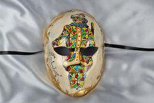 Masquerade Máscara facial completa con colorido veneciano personaje-ma