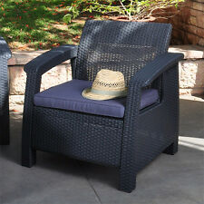 Modern Sofa Chair with Cushion Outdoor Seating Resin Wicker Patio Furniture Ch-l