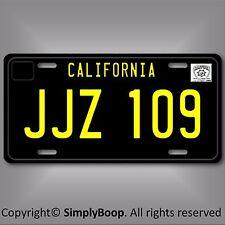 Steve McQueen Bullitt Mustang JJZ 109 Prop Replica Aluminum License Plate Tag 1