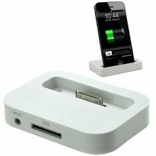 iPhone 4S 4 3GS 3G Charging Dock Docking Station Desktop Stand Cradle White UK