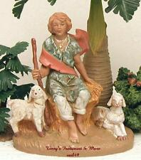 "FONTANINI DEPOSE ITALY 5"" PETER THE SHEPHERD NATIVITY VILLAGE FIGURE #54049 NIB"