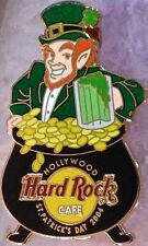 Hard Rock Cafe HOLLYWOOD 2004 St. Patrick's Day PIN Leprechaun & BEER MUG #21771