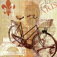VINTAGE 20 Paper Lunch Napkins MY OLD-FASHIONED BIKE Serviettes PARTY DECOUPAGE