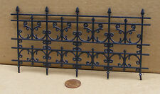 1:12th Plastic Wrought Iron Fence Dolls House Miniature Garden Railing Accessory