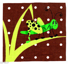 "4.5"" GRASSHOPPER  INSECT BUG  NURSERY  CHARACTER WALL SAFE FABRIC DECAL  CUT OUT"