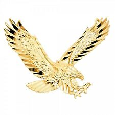 14K Yellow Gold Eagle Pendant GJPT1594