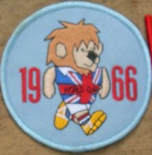 World Cup Willie 1966 Inglaterra Parche Redondo (Azul Claro)