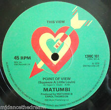 "MATUMBI ~ Point Of View ~ 12"" Single"