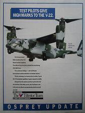 11/1990 PUB BELL BOEING TILTROTOR TEAM V-22 OSPREY MARINES 400MPH ORIGINAL AD