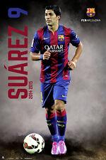 FC Barcelona LUIS SUAREZ - BREAKOUT Spanish La Liga Soccer Action Poster