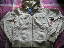 RRP£45 M&S MARKS & SPENCER UK 8 BEIGE / STONE / CREAM HOODIE ZIP UP JACKET NEW