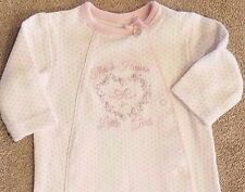 NEWBORN BABY GIRL LITTLE ME THANK HEAVEN FOOTED SLEEP N PLAY OUTFIT ADORABLE