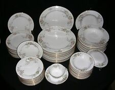81 Piece Collection- ROSE (JAPAN) CHINA DINNERWARE- OCCUPIED JAPAN