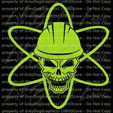 Nuclear Symbol Skull VInyl Decal Power Plant Energy Sticker Nuke Life Car Auto