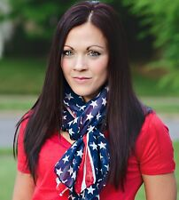 Red White & Blue American Flag wrap around scarf.  USA FREE Shipping 3-5 days