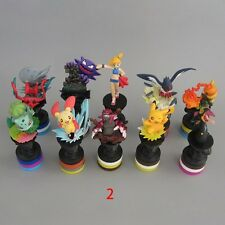 10pcs Pokemon Bulbasaur Groudon Gengar Torchic 7cm-10cm PVC Mini Figure Toy #2
