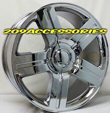 26 INCH CHROME TEXAS EDITION RIMS WHEELS AND TIRES AVALANCHE SILVERADO TAHOE