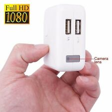 USB Wall Charger HD 1080P Hidden Spy Camera Mini DVR Recorder Motion Detection