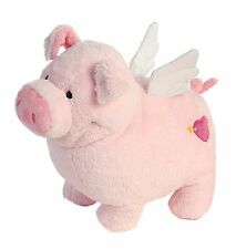 "When Pigs Fly Pigasus Pig LARGE 12"" Valentine plush stuffed toy Aurora AU07761"