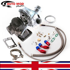 Hybrid T3 T4 T3T4 TO4E V-band Turbo 0.63 AR Oil Drain Return FEED Line Kit AMD