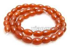"""SALE 6*9mm Olivary shape Genuine Natural Red agate Loose Beads strand 15""""-los672"""
