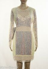 ASOS Embellished Mirror Pastel Bodycon Dress - UK 14 RRP £95