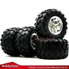 4pcs RC 1/10 Big Foot Tires 2.2'' Wheels Hex 12mm For Wild Monster Crawle Truck