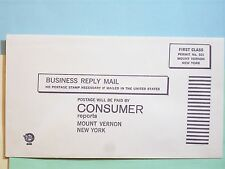 STAMP 1970c CONSUMER REPORTS BUSINESS REPLY ENVELOPE VINTAGE