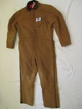 USA Made Vintage Mens Large Walls Blizzard Pruf Duck Brown Insulated Coveralls