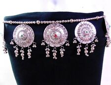 ARTISAN HAND CRAFTED BELLY DANCE HIP BELT INDIAN JEWELRY BANJARA GYPSY BOHO