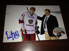 Ivan Barbashev SIGNED 4x6 photo MONCTON WILDCATS / RUSSIA / ST LOUIS BLUES #4